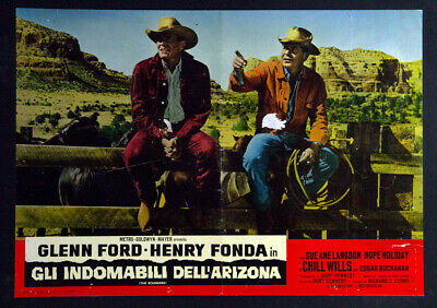 CINEMA-fotobusta-poster GLI INDOMABILI DELL'ARIZONA THE ROUNDERS ford, KENNEDY