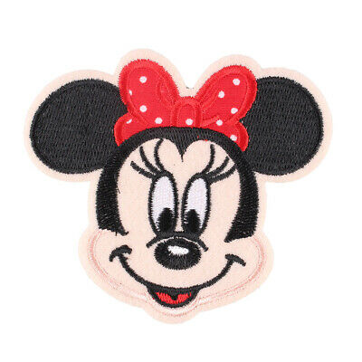 """The Classical Minnie Embroidered Iron ON Patch Fabric Applique Badge 3x3.4"""""""