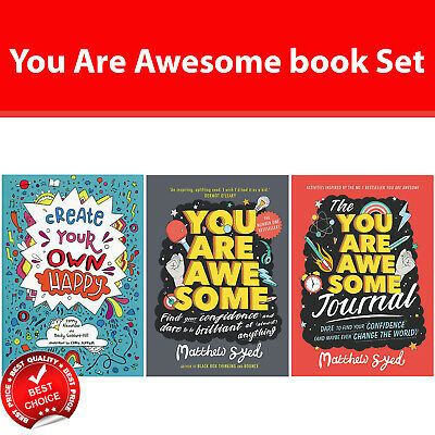 You Are Awesome Books set Create Your Own Happy, You Are Awesome Journal NEW