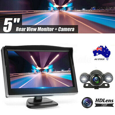 Au Wireless Car Parking 5'' Monitor Reversing Backup Camera Rear View Kit
