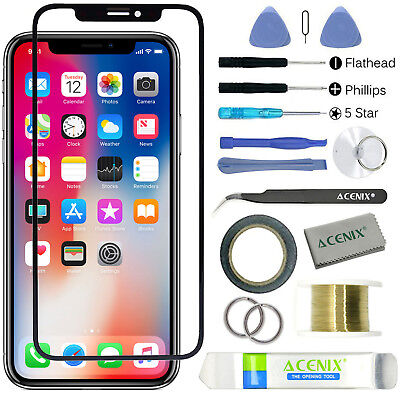 ebuyerfix Replacement Front Outer Touch Screen Glass Lens Kit For iPhone XS Max