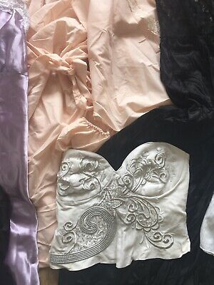 Job lot Wholesale Lingerie, Vintage Modern, Silky Slips, Satin, Pj Set Robe Lace