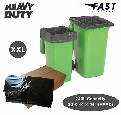 High Quality Extra Large Wheelie Bin Liners Waste Rubbish Bags 240L