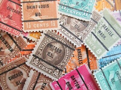 Henry's Stamps-20 Different U.s. Precancels-Free Shipping To U.s.-Great Value -