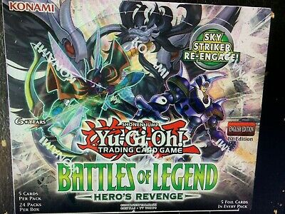 YuGiOh - Battles of Legend: Hero's Revenge - Sealed English Booster 2 Box Lot