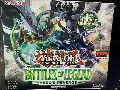 YuGiOh - Battles of Legend: Hero's Revenge - Sealed English Booster - 2 Box Lot