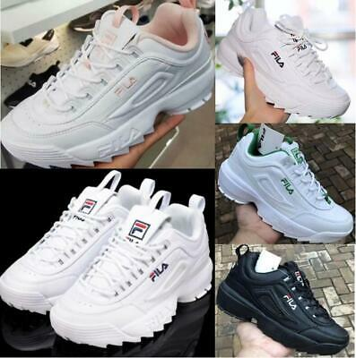 FILA Women Disruptor II 2 Sneakers Casual Athletic Running Trainers Sport Shoes