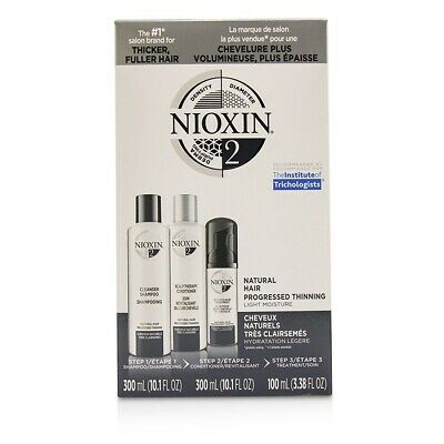 Nioxin 3D Care - For Natural Hair, Progressed Thinning, Light Moisture 3pcs Sets