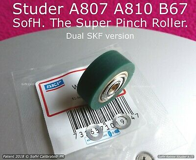 Studer A807 A810 B67 @ One(1) Super Pinch Roller @ Dual Skf Green Adp Version
