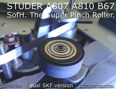 Studer A807 A810 B67 @ One(1) Super Pinch Roller @ Dual Skf Black Rubber Vers