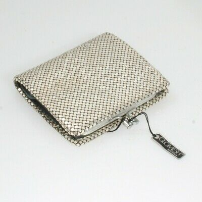Glomesh Silver Wallet Purse Vintage-New original with tag- Excellent condition