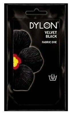 INTENSE BLACK DYLON HAND WASH FABRIC CLOTHES DYE 50g TEXTILE PERMANENT COLOUR