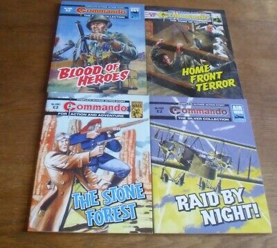 4 Modern Commando Comics - 4959, 4960, 4961 & 4962 - Perfect Condition.