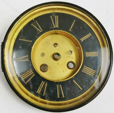 Antique French Striking Visible Escapement Slate Mantel Clock Dial, Clock Spares