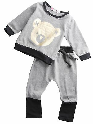 Toddler Clothes Kids Baby Girl Set Spring Long Sleeve T-shirt Top Pants Outfit