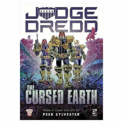 Judge Dredd Cursed Earth Board Game (with promos) - Osprey Games NEW & Sealed