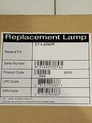 ET-LAD60W Replacement Bulbs For Panasonic Projectors qty of 2 bulbs