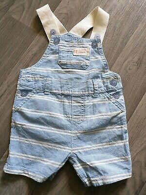 Lovely Baby boys Mothercare dungaree shorts 0-3 months great condition