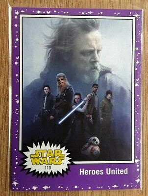 Star Wars Journey to the Last Jedi ~ PURPLE PARALLEL BASE CARD 110