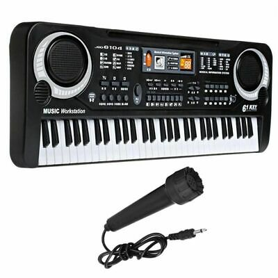 61 Keys Electronic Keyboard Electric Digital With Microphone Music Piano Organ