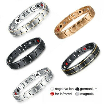 Therapeutic Energy Healing Bracelet Stainless Steel Magnetic Therapys Bracele YR