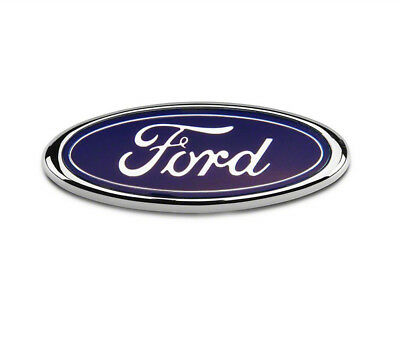 Ford Transit Connect Rear Door Badge 115MM x 45MM Blue Chrome Fiesta Mondeo FR1