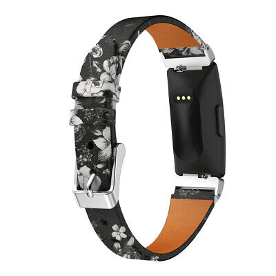 Lady Printing Leather Watch Band Wristband Strap For Fitbit Inspire/Inspire HR ,