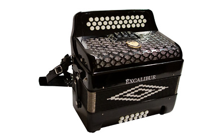 Excalibur Super Classic PSI 3 Row Button Accordion 3 Switch - Black