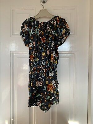 Next Girls Floral Playsuit Age 7 Years