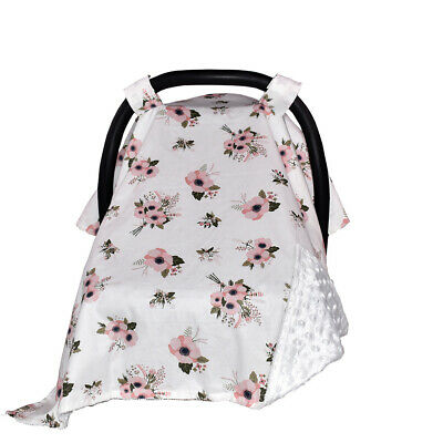 Floral Strip Cradle Shopping Cart Cover Cotton Baby Carseat Canopy Car Covers