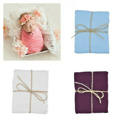Newborn Baby Cheesecloth Swaddle 50*150cm Crochet Wrap Photo Photography Prop