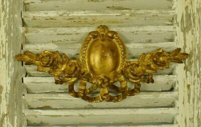 Exquisite Antique French Carved Wood Gilded Mount / Pediment / Ciel De Lit 19thC