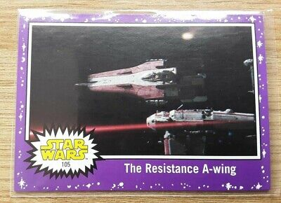 Star Wars Journey to the Last Jedi ~ PURPLE PARALLEL BASE CARD 105