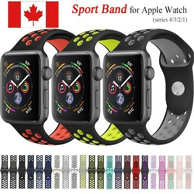38/40/42/44mm Sports Silicone Apple iWatch Strap Band Bracelet Series 4 3 2 1