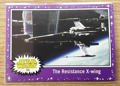 Star Wars Journey to the Last Jedi ~ PURPLE PARALLEL BASE CARD 104