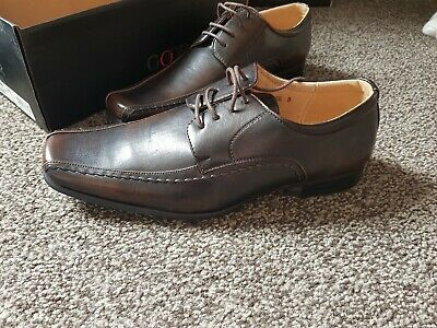 Goor David M154 Tram-line Square Tow Casual Slip On Formal Shoes Dk.Brown PU