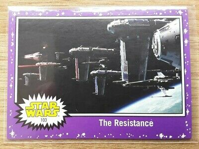 Star Wars Journey to the Last Jedi ~ PURPLE PARALLEL BASE CARD 103