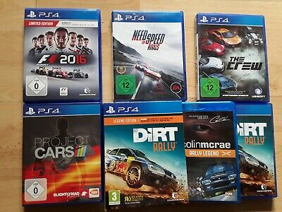PS4-Leg. Edit.-Dirt Rally,Project Cars,F1 2016,Need for Speed Rivals,The Crew
