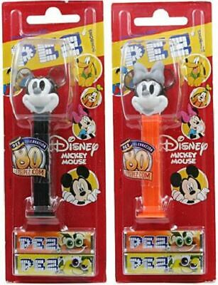 Mickey & Minnie Mouse Pez Set Of 2 - 80Th Anniversary - Crystal - Non-Us Moc