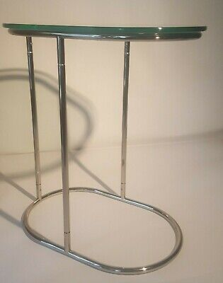 Vintage Mid Century Modern Chrome Glass Top Table