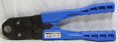 "Nibco 3/4"" PEX Crimp Tool for Copper Rings PX02531 Blue Plumbing Piping Systems"