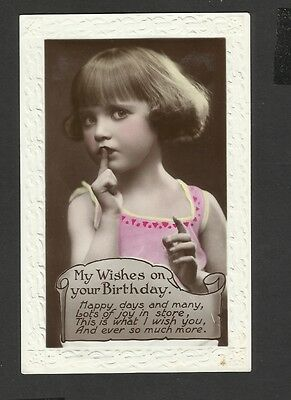 Vintage Greeting Postcard My Wish on your on your Birthday  unposted