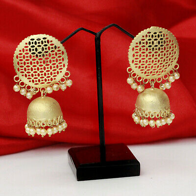 Indian Bollywood Gold Plated Ethnic Pearl Jhumka Jhumki Earrings Fashion Jewelry