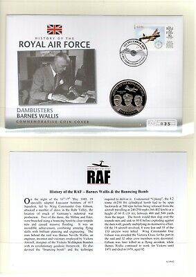 Westminster Coin Cover History of the RAF - Dambusters Barnes Wallis