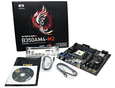 Ecs B350Am4-M2 V1.0A Amd B350 Chipset Amd Am4 Ddr4 Sata3 Micro Atx Motherboard