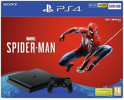 Sony Playstation PS4 500GB Marvel's Spiderman Console & Game Bundle - Black