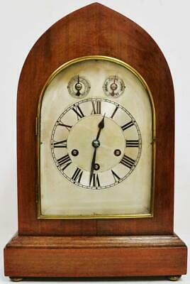 Antique German 8 Day Lancet Top 3 Train Musical Westminster Chime Bracket Clock