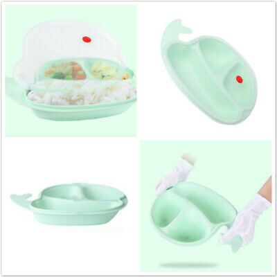 Small Lovely Whale Plate Food Grade Material To Hang Baby Kids Tableware Dish LH