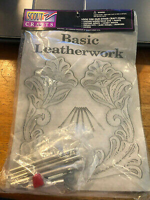 BOY SCOUTS America! Scout Crafts! BASIC LEATHERWORK INSTUCTIONS AND TOOLS! LOOK