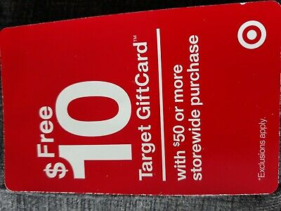 Coupon for Spend $50.00 at Target and get a $10.00 Target gift card